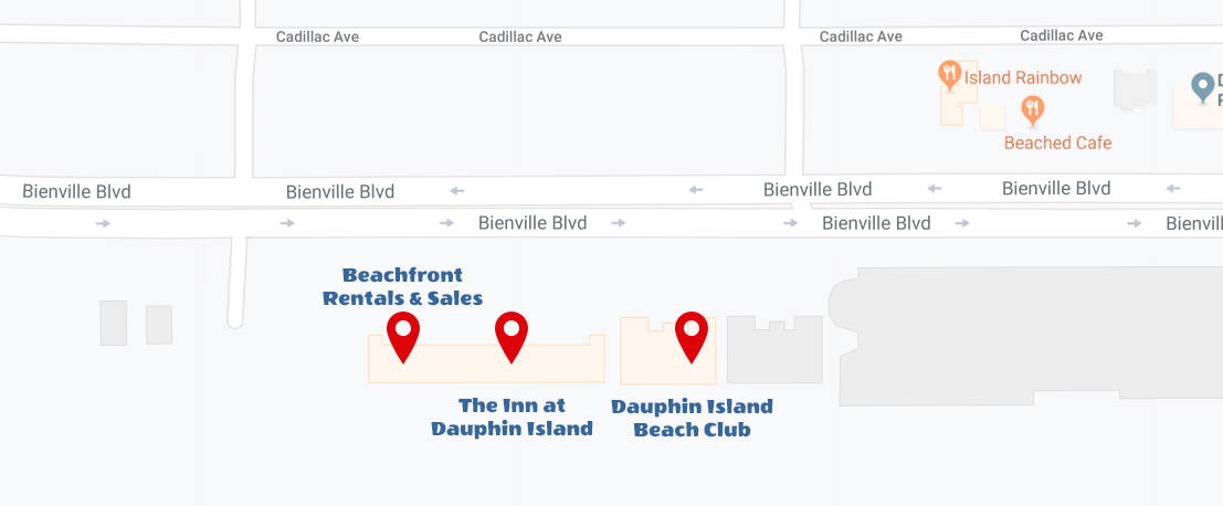 Dauphin Island BeachFront Rental Sales Location